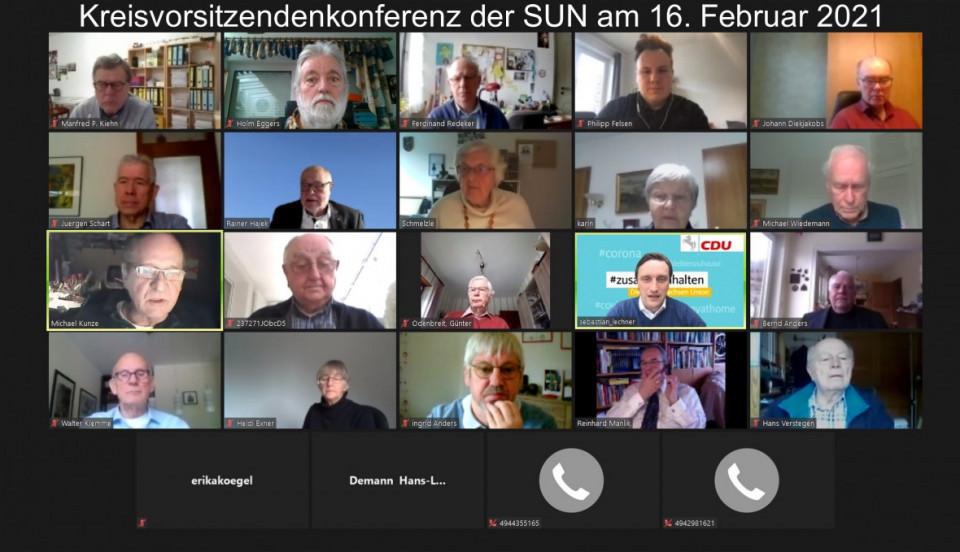 Alle Teilnehmer der Zoom-Videokonferenz